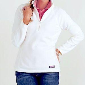Vineyard Vines | White 1/2 Zip Cozy Fleece NWT!